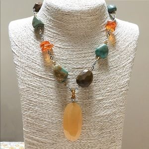 SILPADA 925 Yellow Jade Turquoise Necklace N1296